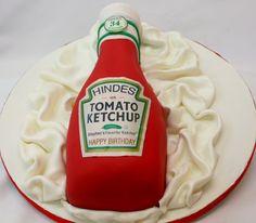 Ketchup bottle Cake Art