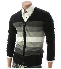 Doublju Mens Casual V-neck Button Cardigan Sweater (014Z) Doublju, http://www.amazon.com/gp/product/B0067Y6IUE/ref=cm_sw_r_pi_alp_mGUaqb19WX7T3