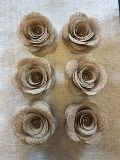 Excited to share this item from my #etsy shop: 6 burlap flower roses rustic Country wedding bouquet decoration fabric cake topper stems chic country floral arrangement craft projects diy