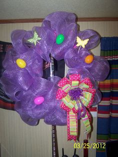 My first mesh wreaths