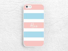 Monogram Phone Case for iPhone 6 iPhone 5 5s, Sony z1 z2 z3, LG G2 nexus 6, Moto G Moto X - Custom name striped case with personalized name