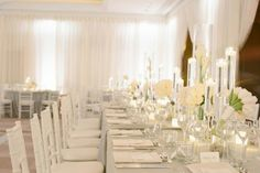 thème de mariage salle mariage decoree blanc