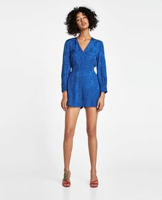 Image 1 of SHORT JACQUARD JUMPSUIT from Zara