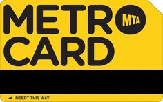 New York-based School of Visual Arts graphics design student Melanie Chernock has given the iconic NYC Metrocard a makeover—in fact, more than 20 redesigns.