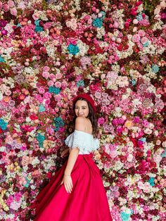 A Bavarian Road Trip - Hello Miss Jordan - Munich Residenz Flower Wall Floating Flowers, Flower Wall, Women's Fashion Dresses, Lady In Red, Flower Power, Spring Fashion, Wedding Day, Tulle, Clothes For Women
