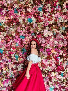 A Bavarian Road Trip - Hello Miss Jordan - Munich Residenz Flower Wall Surprise Boyfriend, Dream Wedding, Wedding Day, Floating Flowers, Flower Wall, Makeup Routine, Lady In Red, Flower Power, Looks Great