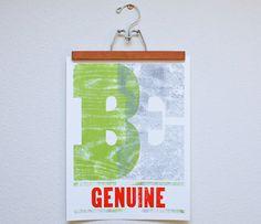 Be Genuine Print
