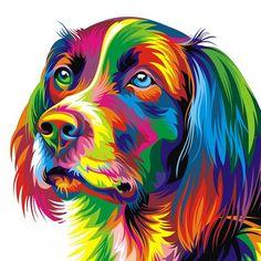 Pop Art Painting Dog Linen Throw Pillow Different Scenes! Arte Pop, Cross Paintings, Dog Paintings, Best Friend Canvas, Tableau Pop Art, Colorful Animals, Colorful Animal Paintings, 5d Diamond Painting, Pet Portraits