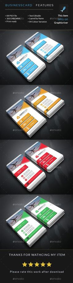Travel Agency Business Card — Photoshop PSD #office card #travel card • Available here → https://graphicriver.net/item/travel-agency-business-card/15041606?ref=pxcr