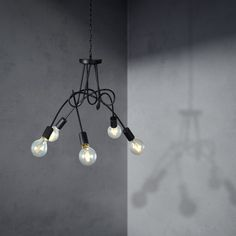 88.71$  Buy here - http://alicvk.worldwells.pw/go.php?t=32383587148 - IKEA Fashion Design Korea Style 5 Branches Twisty Chandelier White/Black LED Lighting Fixture Home Decoration lustre