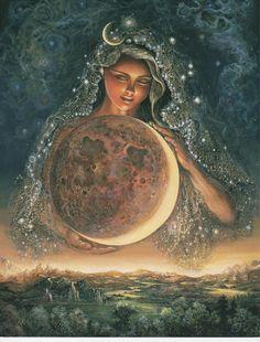 Moon Goddess Selene Art Print Magick Druid Pagan Artemis Freya Solstice Equinox