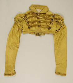 Gold/yellow silk Jacket (Spencer) ca. 1815 - British - in the Metropolitan Museum of Art costume collections.