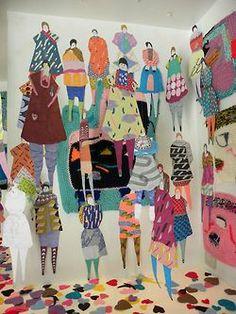 (by eden veaudry) Instalation Art, Illustrations, Illustration Art, Art Plastique, Public Art, Art Education, Textile Design, Paper Dolls, Collage Art