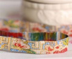Hey, I found this really awesome Etsy listing at https://www.etsy.com/listing/179803746/beige-embroidered-ribbon-trim-royal