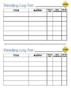 Reading Log with AR Scores - great to use in students' interactive reading response notebooks!