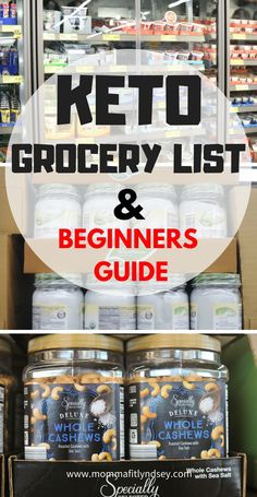 Keto grocery shopping list for beginners for the ketogenic diet #keto #ketogenic #lowcarb