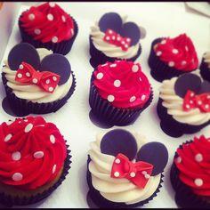 Minnie Mouse Cupcakes by Peach Powder Blue, via Flickr
