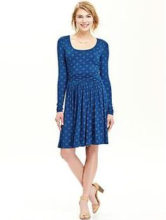 Women's Patterned Jersey Dresses | Old Navy