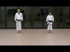 JKA/ Mahiro & Masaki practice Heian shodan-godan and Tekki shodan part 1 - YouTube