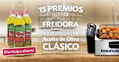 ¡LA MASÍA y TAURUS regalan 15 lotes de 1 Freidora Taurus y 3 botellas de Aceite de Oliva Clásico!