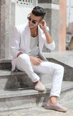 #blazer #pants #white #party #summer