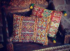 Colourful kilim pillows