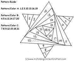 Free Iris Paper Folding Patterns | Iris Folding @ CircleOfCrafters.com: Free Star of David Pattern