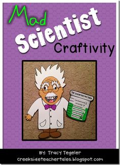 Mad Scientist Craftivity   Use to introduce or review the scientific method, science safety rules, or for a fun science-themed writing activity!  $2.50