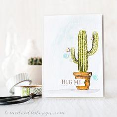 for John  Debby Hughes - Lime Doodle Design http://limedoodledesign.com/2015/04/hug-me-easy-watercolour/ #card #cactus