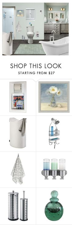 """BATHROOM DESIGNS"" by arjanadesign ❤ liked on Polyvore featuring interior, interiors, interior design, home, home decor, interior decorating, WG Wood Products, WALL, InterDesign and Marimekko"