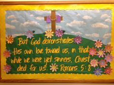 Easter/Spring Church Bulletin Board