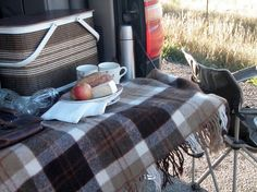 tailgate picnic in fall