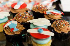Airplane Birthday Cupcakes - Project Nursery