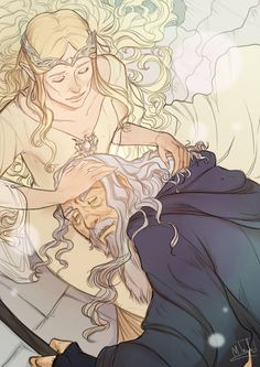 Sorry guys but I'm totaly on this ship so mutch I must make fanart XDDD Gandalf and Galadriel Hobbit Art, The Hobbit, Lotr, Shadow Of Mordor, Nerd, Jrr Tolkien, Thranduil, Gandalf, Art Club