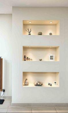 Interior Walls, Best Interior, Home Interior Design, Home Engineering, Niche Decor, Wall Decor, Recessed Shelves, Niche Design, Room Partition Designs