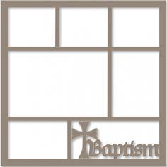 Baptism - Laser Die Cut Scrapbook Overlay