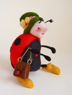 ladybug toy by Gretel Parker  Another pincushion inspiration