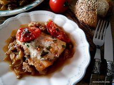 μπακαλιάρος φούρνου γιαχνί Lasagna, Seafood, Ethnic Recipes, Sea Food, Lasagne, Seafood Dishes