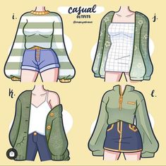 Fashion Design Drawings, Fashion Sketches, Kleidung Design, Drawing Anime Clothes, Clothing Sketches, Cute Art Styles, Character Outfits, Anime Outfits, Cute Casual Outfits