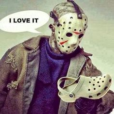 Funny Friday 13th Movie Jason Croc Joke Picture | Funny Joke Pictures