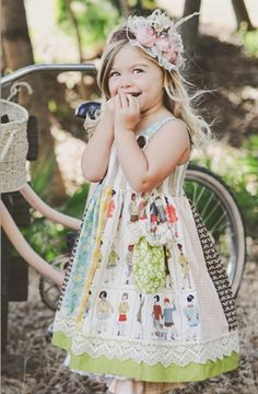 Persnickety Clothing - Adele Dress in Multi Color , love that headband