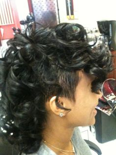 Super Short natural African American Hairstyles | Curly Mohawks For Black Women