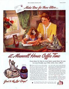 Maxwell House Coffee ad, c. 1945