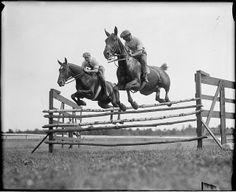 Competitors caught mid-air 1927