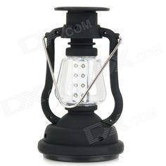 Outdoor Solar Dynamo 16-LED Cool White Lamp Hanging Lantern - Black From 19,95 for Euro 14,55