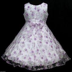 light purple flower girl dresses | Light,Deep Purple White puw975 Wedding Birthday Party Flower Girls ...