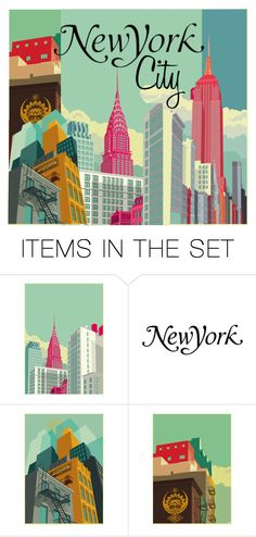 """New York City"" by bb60477 ❤ liked on Polyvore featuring art"