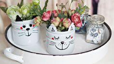 Tvůrčí odpoledne s dětmi: Kočičí květináče do pokojíčku - Hobby