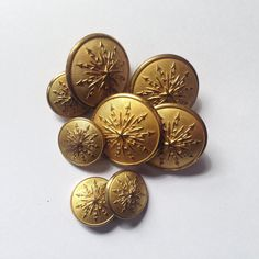 Vintage Scandianvia buttons from onlygoodbuttons on Etsy.  The back says C.C.SPORRONG & CO STOCKHOLM Brutalist Design, Vintage Pottery, Contemporary Jewellery, Vintage Buttons, Stockholm, Scandinavian, Vintage Jewelry, Etsy, Vintage Ceramic