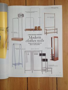 A clothes rail in blueberry. @LivingetcUK July 2015 issue #andnewfurniture Made in Britain #nonutsandbolts